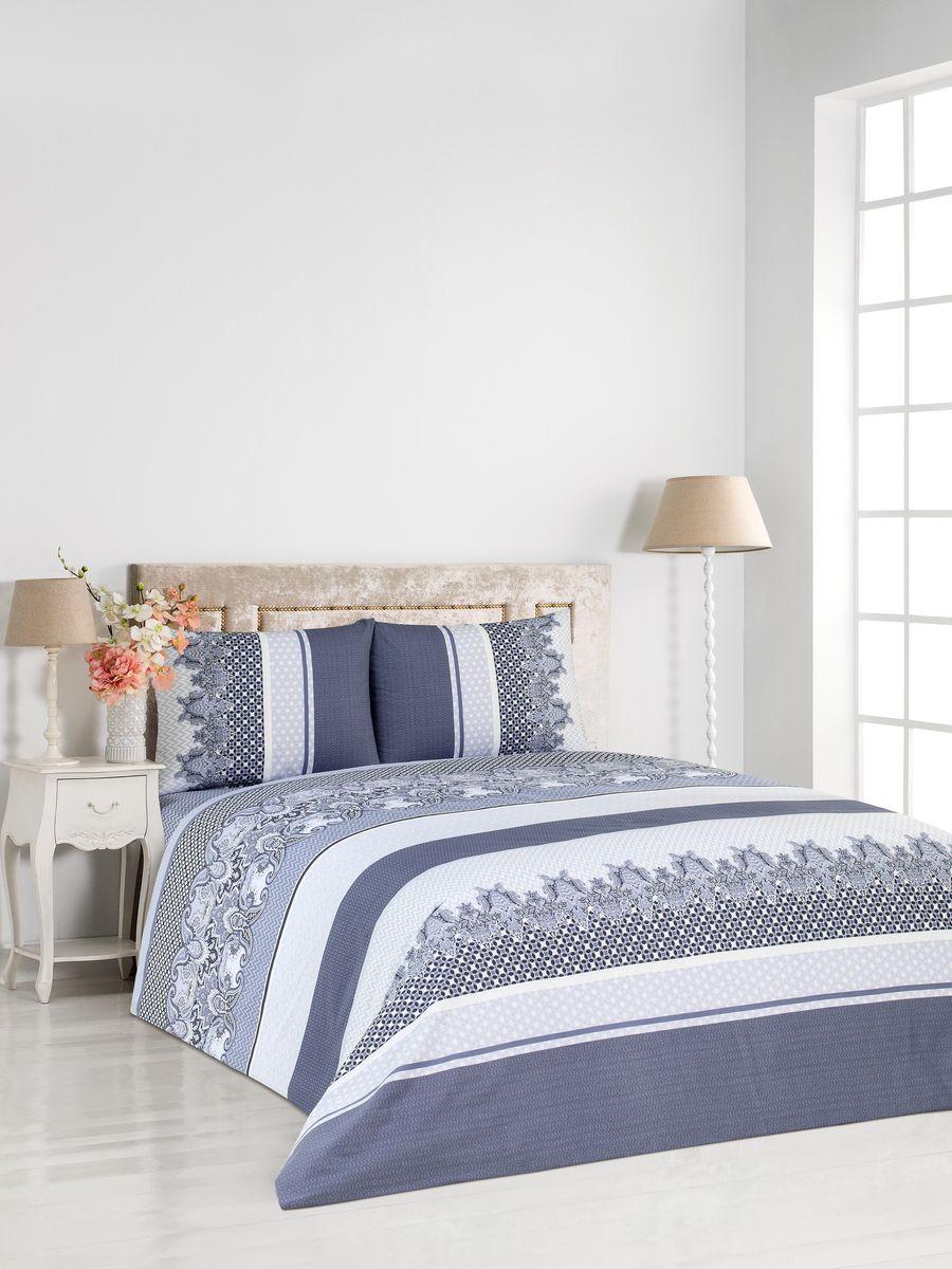 Комплект постельного белья Сlassic by T Клио, 2- спальный, сатин, цвет: серый. 30.07.26.0087