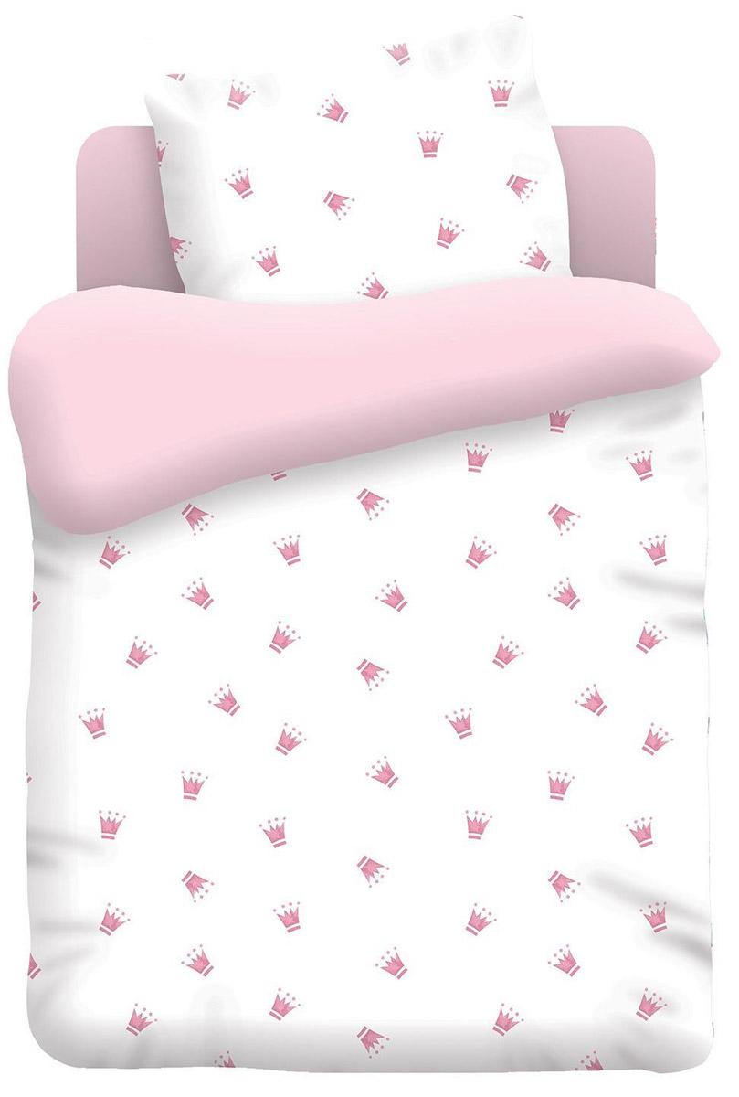 Непоседа Комплект детского постельного белья Коронки цвет розовый 3 предмета406146Постельное белье Непоседа Коронки будет любимым комплектом вашей девочки!Эта модель произведена из хлопка, полотняного плетения, группы поплин, с использованием современных устойчивых и в то же время, гипоаллергенных красителей. Такое белье прослужит долго и выдержит много стирок. Рекомендуется перед первым использованием постирать, но не пересушивать. Применение кондиционера при стирке сделает такое постельное белье мягче и комфортней. Пододеяльник на молнии. Обращаем внимание, что расцветка наволочек может отличаться от представленной на фото.Пододеяльник 147х112 см, простынь 150х110 см, наволочка 40х60 см