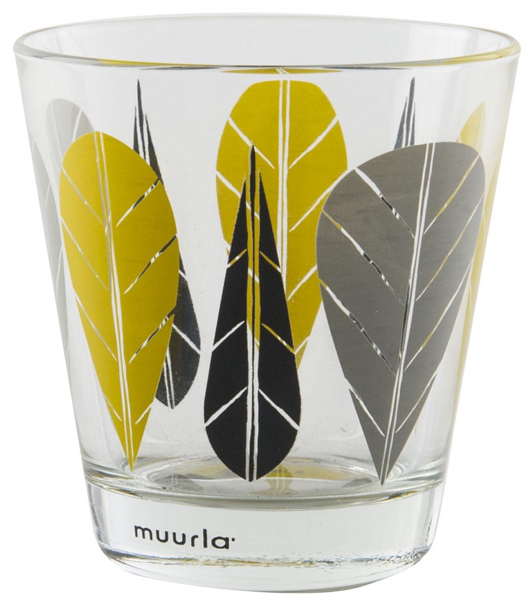 Стакан Muurla Leaves, цвет: прозрачный, 270 мл, 2 шт308-027-02