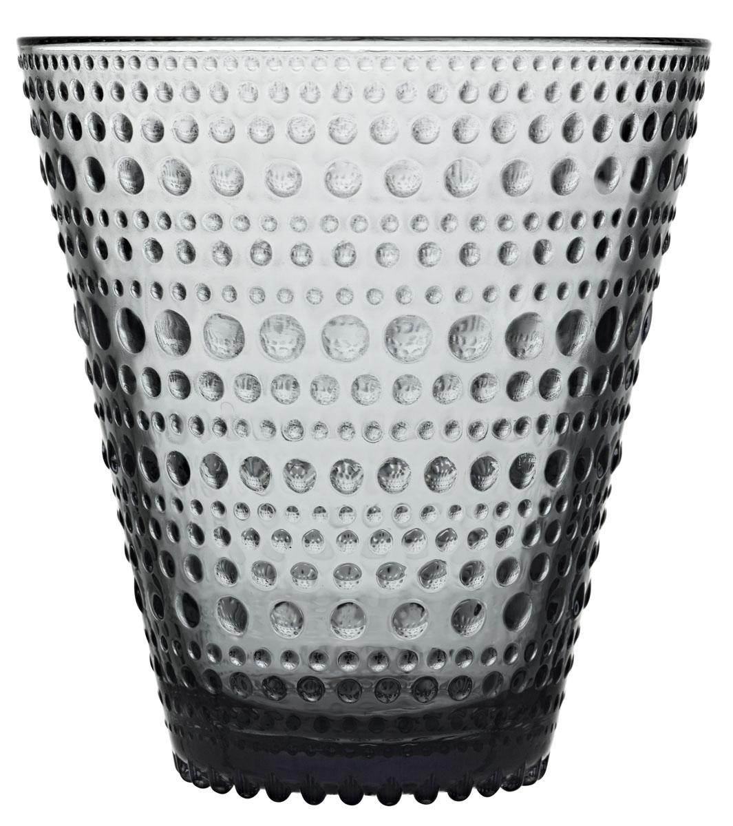 Набор стаканов Iittala Kastehelmi, цвет: серый, 300 мл, 2 шт1018765Стаканы Iittala выполнены из высококачественного стекла. Изделия имеют удобную изящнуюформу, которая позволит им комфортно лежать в вашей руке. Дизайн стаканов будет радовать глаз. Легкий и прочный материал обеспечитсохранность изделия в течение многих лет.