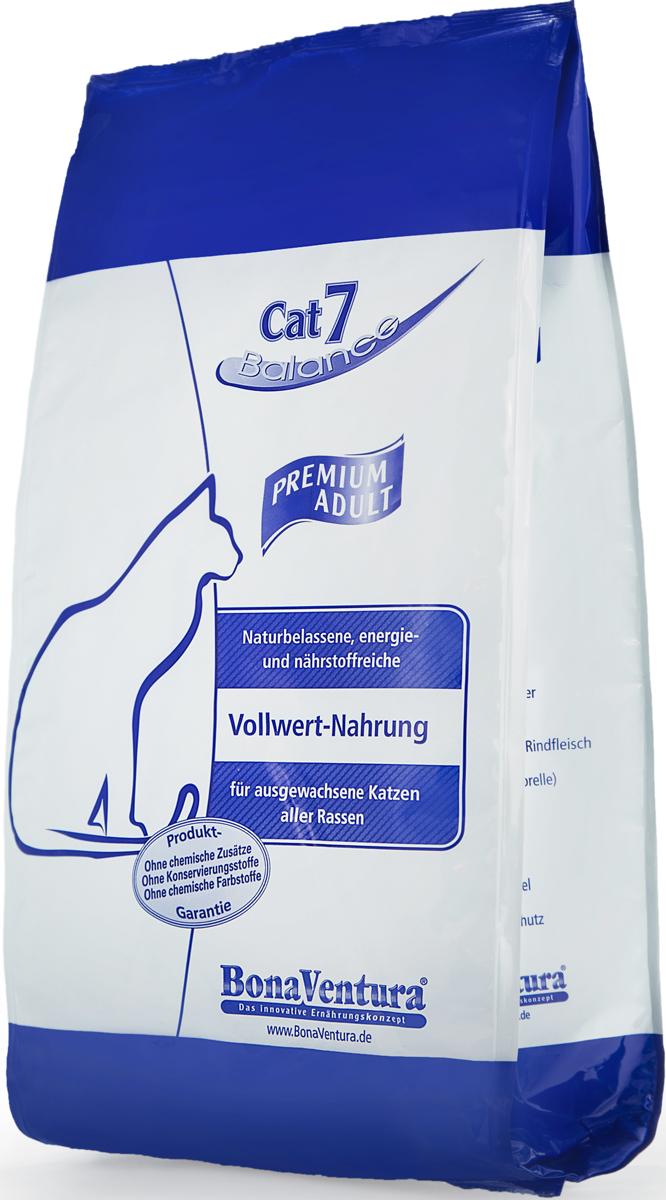 Корм сухой BonaVentura Cat 7 Premium для взрослых кошек, с мясом и рыбой, 3,5 кг605403Натуральный корм BonaVentura Cat 7 Premium предназначен для взрослых кошек всех пород. Содержит 4 вида мяса и 2 вида рыбы. Корм произведен из продуктов, пригодных в пищу человека по специальной технологии, схожей с технологией Sous Vide. Благодаря технологии, при изготовлении сохраняются все натуральные витамины и минералы. Это достигается благодаря бережной обработке всех ингредиентов при температуре менее 80 градусов. Такая бережная обработка продуктов не стерилизует продуктовые компоненты. Благодаря этому корма не нуждаются ни в каких дополнительных вкусовых добавках и сохраняют все необходимые полезные вещества.При производстве кормов используются исключительно свежие натуральные продукты: мясо, овощи и зерновые; Приготовлено из 100% свежего мяса, пригодного в пищу человеку; Содержит натуральные витамины, аминокислоты, минеральные вещества и микроэлементы; С экстрактом масла зародышей зерна пшеницы холодного отжима (Bio-Dura); Без химических красителей, усилителей вкуса, искусственных консервантов и химических добавок; Без ГМО; Без мясокостной муки; Без сои.Товар сертифицирован.