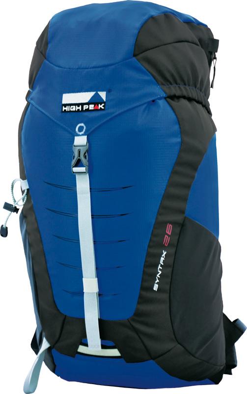 Рюкзак туристический High Peak Syntax, цвет: синий, 26 л30143Очень лёгкий и практичный рюкзак с верхней загрузкой. Продуманная конструкция. Отличное соотношение цены и качества.Преимущества и особенности: Карман в крышке рюкзака Эластичные боковые карманы для бутылки воды Мягкая спинка с системой Air Channel с вентиляционными каналами Мягкие уплотненные плечевые лямки анатомической формы Грудная стяжка Набедренный ремень Крепление для трекинговых палок Дождевой чехол Светоотражающее крепление для мигающего фонарика-маячка