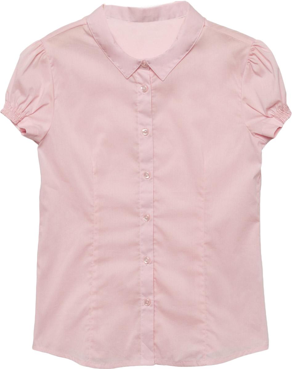 Блузка для девочки Sela, цвет: розовый. Bs-612/863-7320. Размер 152, 12 летBs-612/863-7320Классическая блузка Sela для девочки выполнена из высококачественного материала. Модель с отложным воротником и короткими рукавами застегивается на пуговицы. Рукава дополнены эластичными вставками.