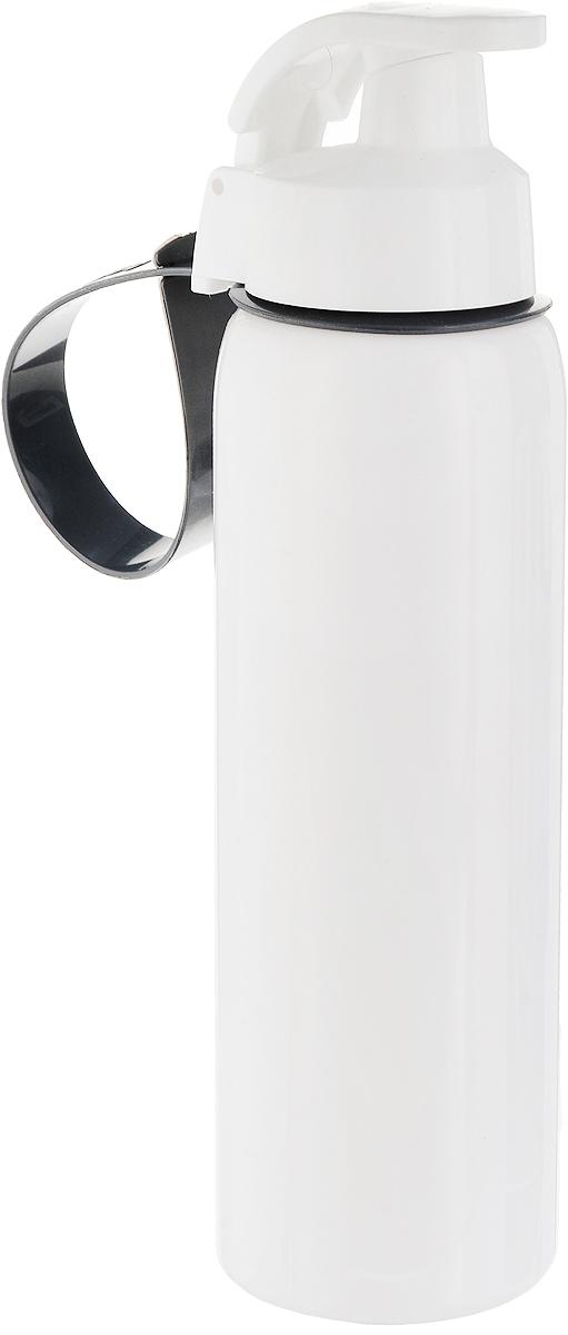 Бутылка спортивная Solmazer, цвет: белый, 500 мл161501-000_белыйБутылка спортивная Solmazer изготовлена из качественного пластика. Бутылка оснащена удобным носиком для питья, который плотно закрывается. Крышка легко откручивается, что позволяет без труда наполнить емкость. С помощью ремешка бутылку можно прикрепить на пояс или к рюкзаку. Такую бутылку удобно взять с собой на работу, учебу, прогулку, на занятия фитнесом и в поездки. Диаметр основания: 6 см.Высота емкости: 23 см.