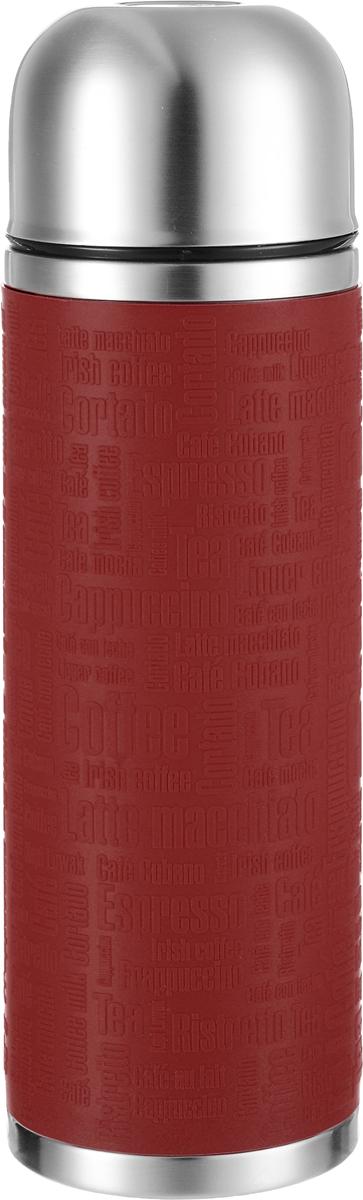 Термос Emsa Senator Sleeve, цвет: красный, стальной, 1 л515715Термос Emsa Senator Sleeve имеет прочный корпус из нержавеющей стали. Внешние стенки дополнены силиконовой накладкой с рельефными надписями. Модель снабжена герметичной пластиковой пробкой, которая предотвращает выливание содержимого. Крышка с внутренним пластиковым покрытием удобно завинчивается и может послужить в качестве чашки для напитков. Термос сохраняет напиток горячим 12 часов, холодным - 24 часа. Диаметр горлышка: 4,5 см. Диаметр основания: 9 см. Высота термоса: 30 см.