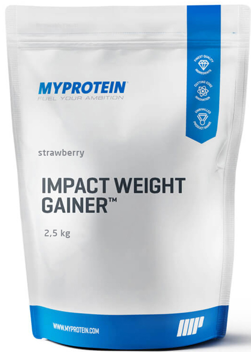 "Гейнер Myprotein ""Impact Weight Gainer V2"", клубника, 2,5 кг"
