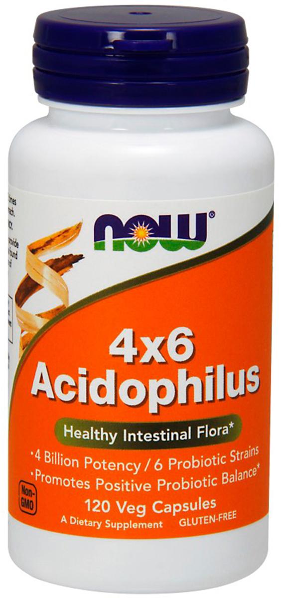Поддержание здоровой кишечной флоры Now Foods 4X6 Acidophilus, 120 капсNF2922Данный продукт представляет собой сбалансированный спектр полезных бактерий, обитающий в желудочно-кишечном тракте человека. Регулярный прием пробиотиков может помочь в поддержании здоровой микрофлоры кишечного тракта Товар не является лекарственным средством.Товар не рекомендован для лиц младше 18 лет.Могут быть противопоказания и следует предварительно проконсультироваться со специалистом.