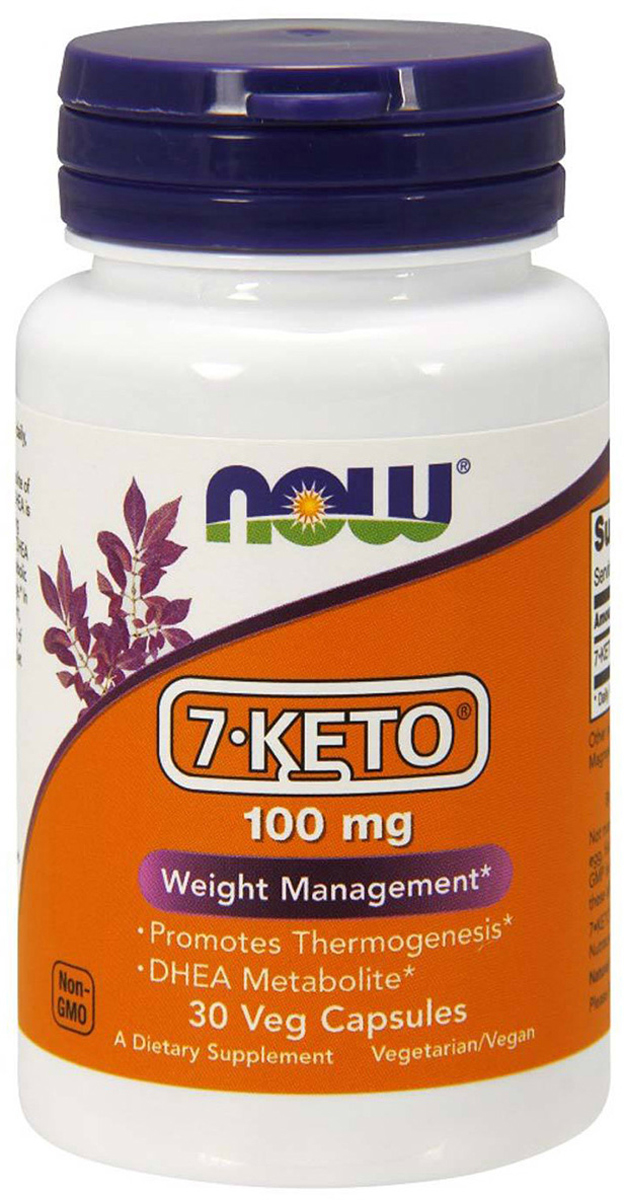 Ускорение метаболизма Now Foods 7-KETO 100mg, 30 капс now foods candida support 90 veg capsules free shipping