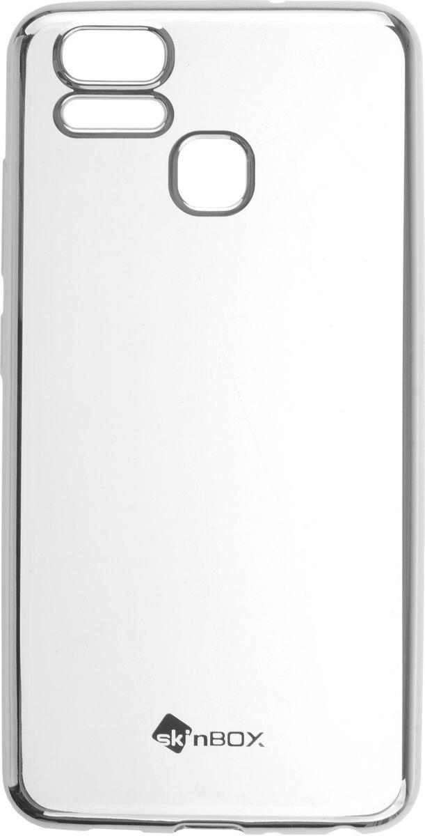 Skinbox Silicone Chrome Border 4People чехол для ASUS ZenFone 3 Zoom (ZE553KL), Silver2000000139524Чехол-накладка Skinbox Silicone Chrome Border 4People для ASUS ZenFone 3 Zoom (ZE553KL) бережно и надежно защитит ваш смартфон от пыли, грязи, царапин и других повреждений. Выполнен из высококачественного поликарбоната, плотно прилегает и не скользит в руках. Чехол-накладка оставляет свободным доступ ко всем разъемам и кнопкам устройства.