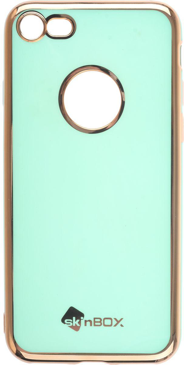 Skinbox Slim Silicone Color чехол для Apple iPhone 7/8, Mint2000000135489Чехол-накладка Skinbox Slim Silicone Color для Apple iPhone 7/8 обеспечивает надежную защиту корпуса смартфона от механических повреждений и надолго сохраняет его привлекательный внешний вид. Накладка выполнена из высококачественного силикона, плотно прилегает и не скользит в руках. Чехол также обеспечивает свободный доступ ко всем разъемам и клавишам устройства.