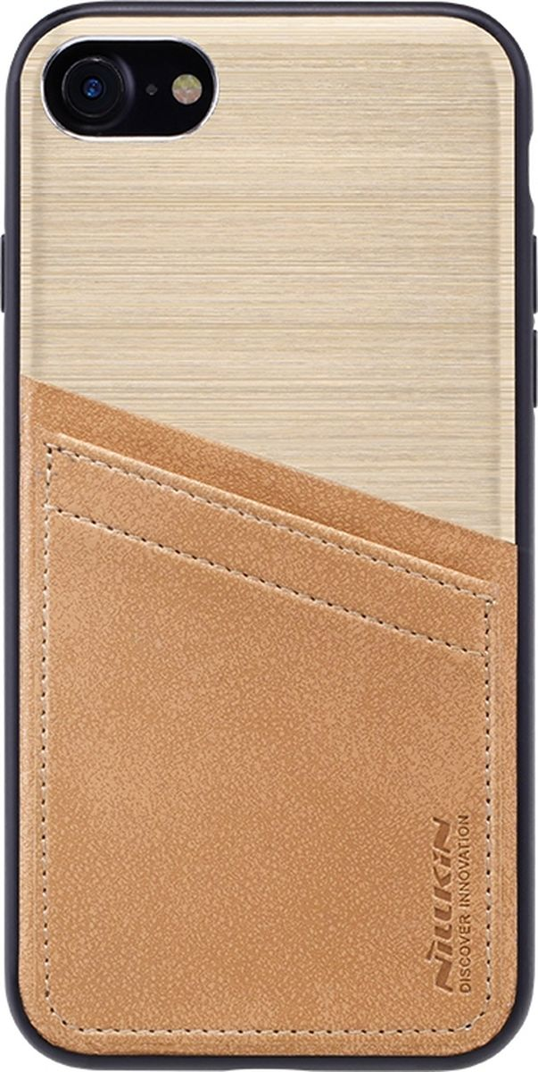 Nillkin Classy Case чехол для Apple iPhone 7/8, Gold2000000125107Чехол надежно защищает ваш смартфон от внешних воздействий, грязи, пыли, брызг. Он также поможет при ударах и падениях, не позволив образоваться на корпусе царапинам и потертостям. Чехол обеспечивает свободный доступ ко всем функциональным кнопкам смартфона и камере.