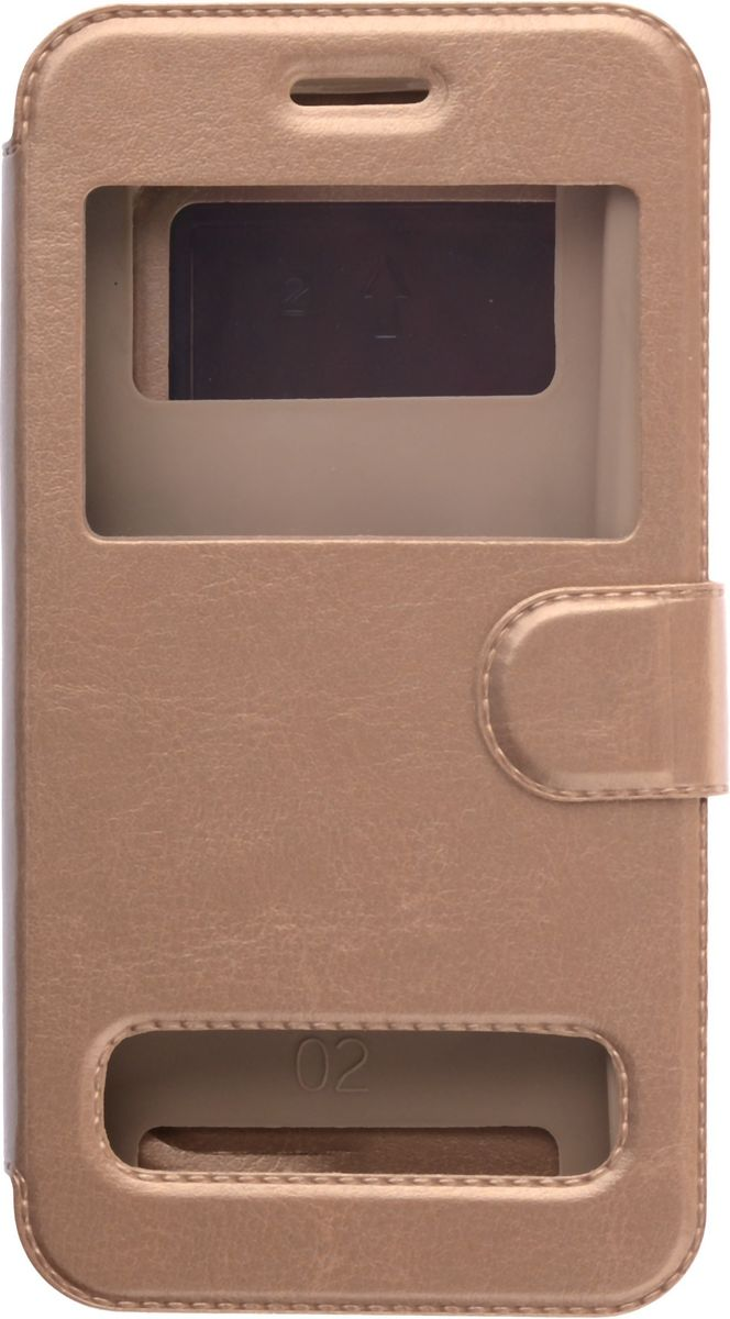 """Skinbox Silicone Slide универсальный чехол для смартфонов 5.0"""", Gold"""