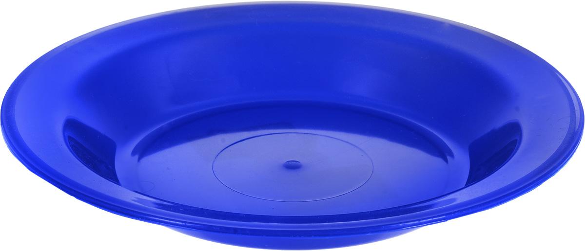 Тарелка Gotoff, цвет: синий, диаметр 21 смWTC-803_синийТарелка Gotoff изготовлена из цветного пищевого пластика и предназначена для холодной и горячей пищи. Выдерживает температурный режим в пределах от -25°С до +110°C. Посуду из пластика можно использовать в микроволновой печи, но необходимо, чтобы нагрев не превышал максимально допустимую температуру. Удобная, легкая и практичная посуда для пикника и дачи поможет сервировать стол без хлопот!Диаметр тарелки (по верхнему краю): 21 см. Высота тарелки: 3 см.