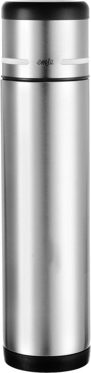 Термос Emsa Mobility, цвет: черный, стальной, 700 мл509238Термос Emsa Mobility позволит насладиться вашим любимым напитком на работе, в походе, во время пикника или на прогулке. Термос имеет прочный корпус из нержавеющей стали. Модель снабжена герметичной пластиковой пробкой, которая предотвращает выливание содержимого. Крышка с внутренним пластиковым покрытием удобно завинчивается и может послужить в качестве чашки для напитков. Благодаря системе высококачественной вакуумной изоляции термос сохранит напиток горячим до 12 часов, а холодным - до 24 часов. Диаметр горлышка термоса: 4,5 см. Диаметр дна термоса: 7 см. Высота термоса (с учетом крышки): 29,5 см.