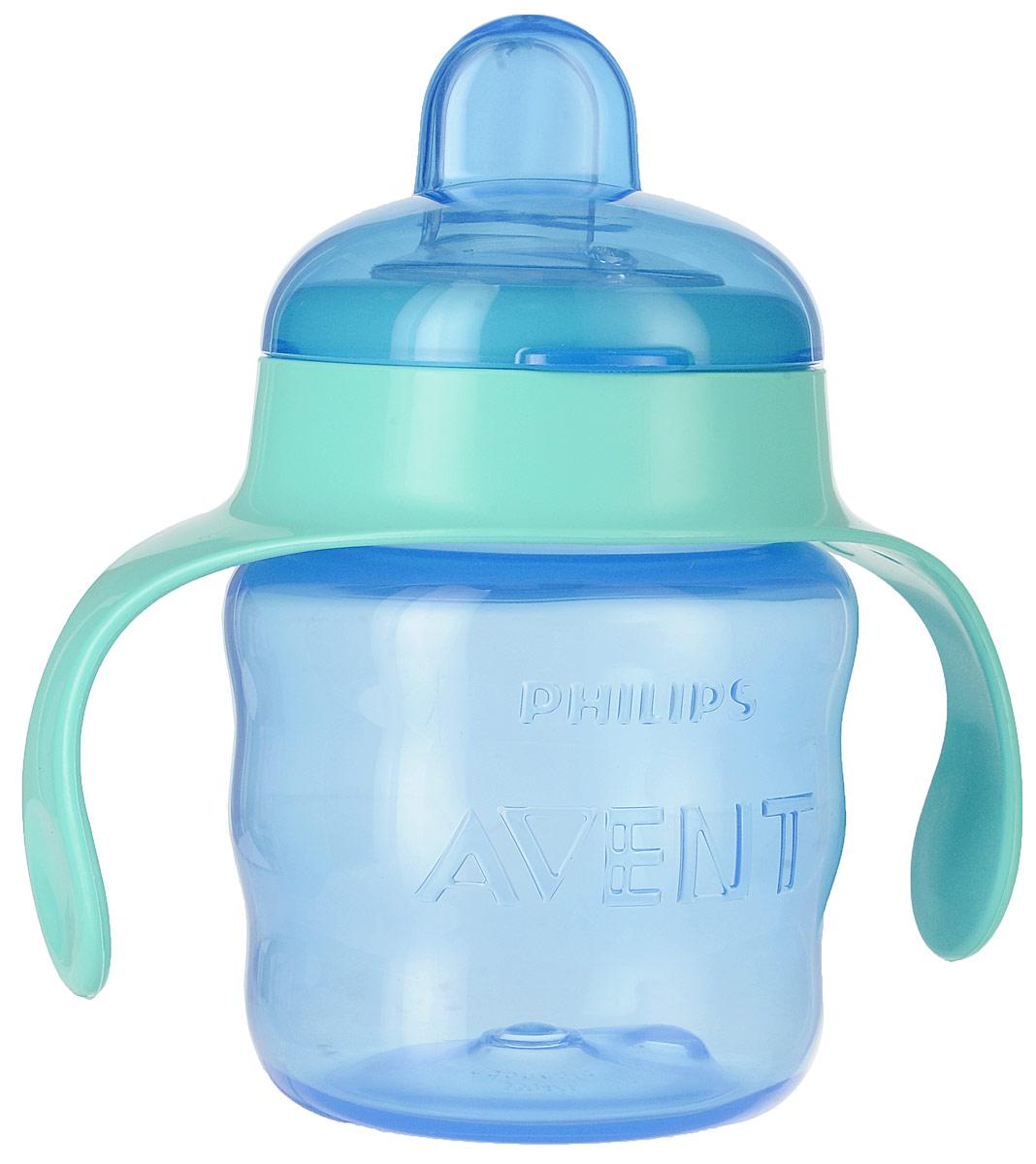 Philips Avent Чашка-поильник Comfort от 6 месяцев цвет синий мятный 200 мл SCF551/00 philips avent чашка поильник 260 мл 12м красный scf782 00