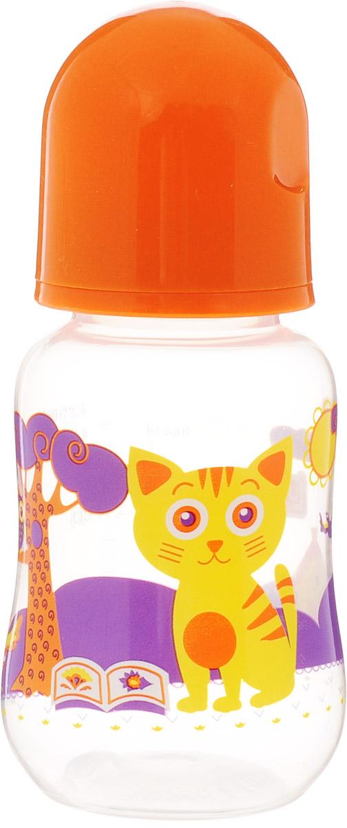 Lubby Бутылочка для кормления Русские мотивы от 0 месяцев цвет оранжевый 125 мл