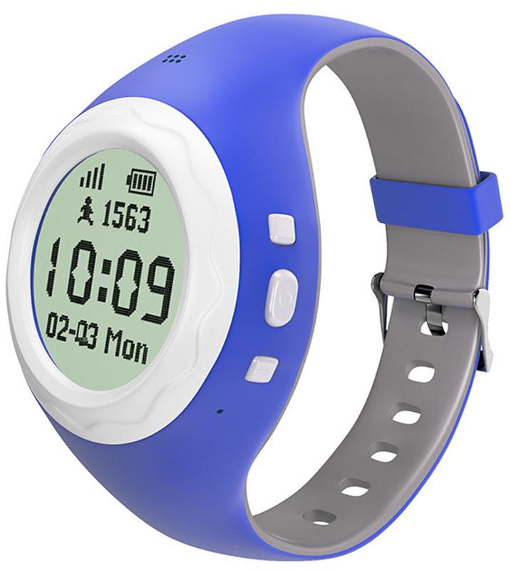 HIPER BabyGuard, Blue умные часыBG-01BLUЧасы-телефон HIPER BabyGuard предназначены для дошкольников и детей младшего школьного возраста и представляют собой синтез сотового телефона, адаптированного для использования детьми и GPS/LBS/WiFi-трекера, отслеживающего перемещение владельца в пространстве.Ключевые функции HIPER BabyGuard:Часы - показывают время, дату, месяц и день неделиШагомер - ведет учет активности. Подсчитывает пройденные шаги в приложенииТелефон - звонит по трем номерам, добавленным заранее. Есть встроенный динамик и микрофонШпионский звонок - скрытный вызов на часы, чтобы узнать, на уроке ли ребенокОпределение месторасположения - приложение-компаньон показывает месторасположение вашего ребенка в данный моментAnti-Lost - подает сигнал на потерянные часы, для того чтобы их можно было найтиГолосовые сообщения - возможность обмениваться голосовыми сообщениями с владельцами таких же часовГеозона - присылает уведомление, когда ребенок покинул геозону, например школу или спортзалКнопка SOS -в случае опасности одним нажатием кнопки набирает номер предварительно установленный в приложенииЭнергоэффективность - технология низкого энергопотребления ELLPСтандарт GSM: 900/1800/850/1900 МГц Тип сим-карты: microSIMПозиционирование: GPS, LBS, WiFi