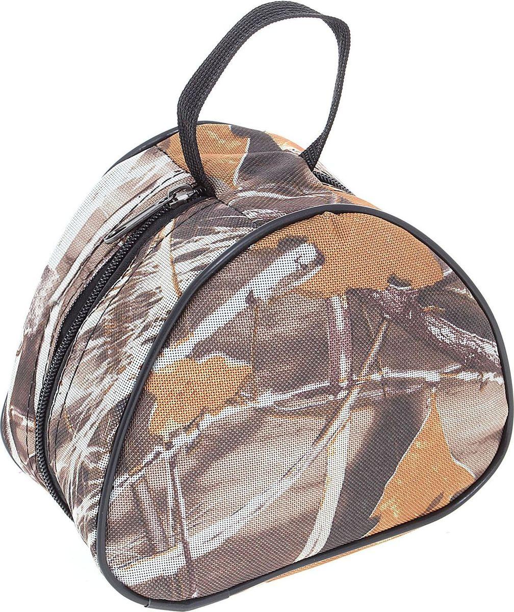 Сумка Onlitop для хранения и переноски катушек, средняя, цвет: коричневый1071478Легкая и компактная сумка Onlitop предназначена для хранения и переноски катушек. Она оснащена ручкой для переноски и закрепления на рюкзаке. Выполнена из прочного, непромокаемого, легко чистящегося полиэстера. Широкие стороны уплотнены, чтобы избежать повреждения груза. Молния по всему периметру позволяет широко раскрывать сумку.