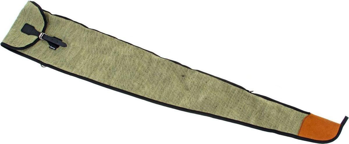 Чехол для оружия МЦ 21-12, длина 132 см. 10784751078475Чехол МЦ 21-12 выполнен из прочной, непромокаемой ткани оксфорд камуфлированных расцветок типа ЛЕС, а также однотонных расцветок зеленых оттенков снаружи и плотного нетканого материала внутри, который придает чехлу форму и защищает оружие от внешнего удара или падения. Снаружи чехол оснащен двумя ручками из прочной стропы для переноски в руке. Запряжник выполнен из натуральной кожи, фурнитура из металла.Длина чехла: 135 см.