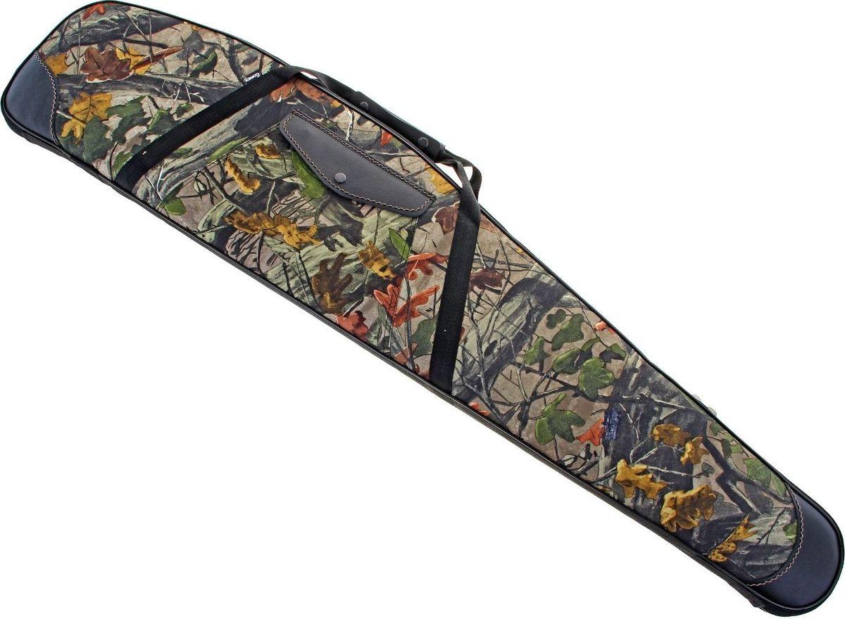 Кейс для оружия, с оптикой, длина 125 см. 10784761078476Кейс комбинированный с оптикой (поролон+кожа). Длина: 125 см. Кейс, выполненный из ткани и кожи, с углублением для оптического прицела для оружия длиной до 122 см. Кейс L-125 с оптикой имеет синтетическое текстильное покрытие высокой прочности, усиленное специальными кожаными накладками в местах, предполагающих высокий риск механических повреждений. Конструктивная особенность кейса – особая ниша, позволяющая размещать оружие с прицельной оптикой в полностью собранном виде. Внутренняя поверхность представляет собой поролоновую подкладку, защищенную специальным покрытием и имеющую рельефную, гофрированную фактуру. Упругость материала надежно предохраняет оружие от сотрясений, ударов и резких температурных перепадов, столь губительных для высокоточной оптики. Цвета кожи - черный, ткань прорезиненная в нутри и защитного цвета с наружи.Производитель оставляет за собой право вносить изменения в конструкцию изделия, не ухудшающие его технические характеристики.Уважаемые клиенты! Обращаем ваше внимание на возможные изменения в цветовом дизайне товара. Поставка осуществляется в зависимости от наличия на складе.