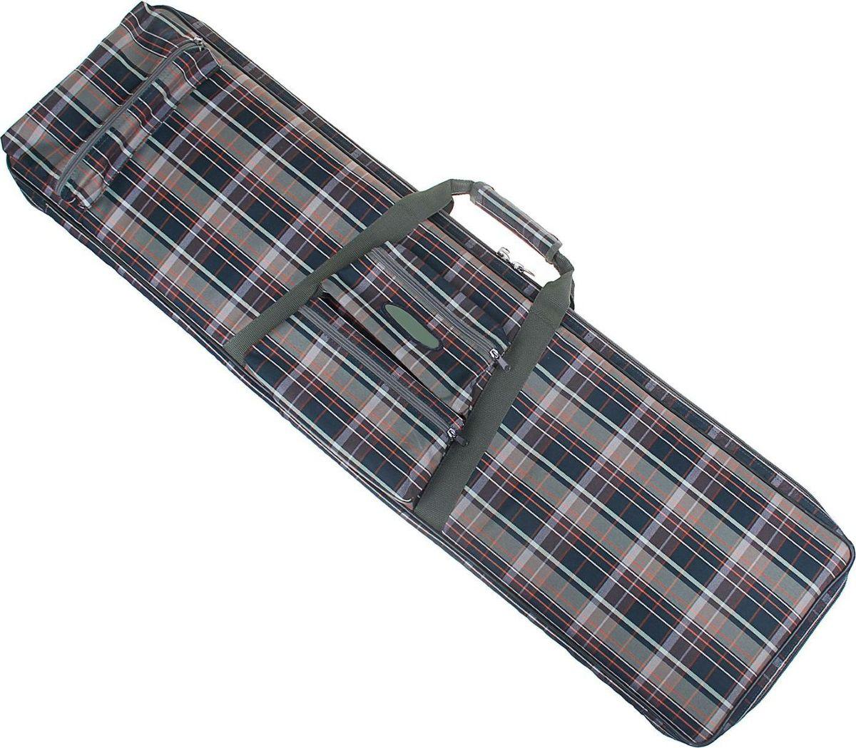 Чехол для оружия, 115 х 30 см. 12571761257176Чехол предназначен для хранения и переноса винтовки. Он выполнен из клетчатой водонепроницаемой ткани шотландка. Внутри чехла имеется карман-сетка и лямки для фиксации оружия. Изделие закрывается на молнию.Размер: 115 х 30 см.