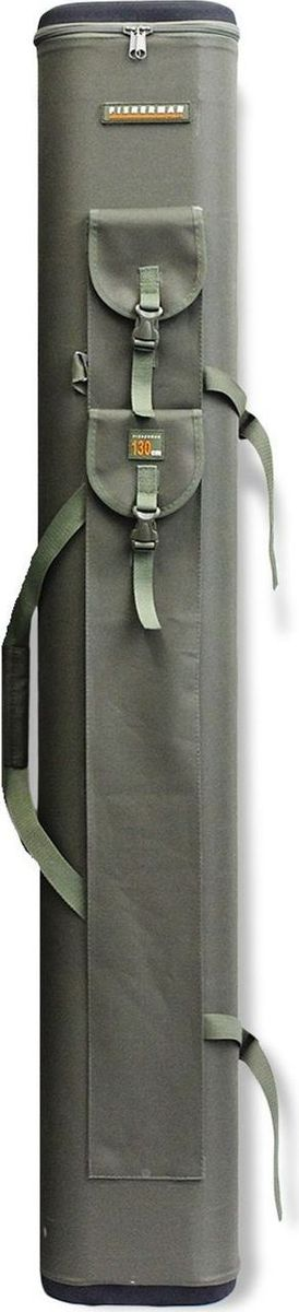 Тубус для спиннинга Fisherman, двойной, 110 х 130 см. Ф176/21984527Двойной тубус для спиннинга Fisherman способен вместить до 10 удилищ одновременно. Он имеет три наружных кармана для стоек или подсачка, двойную сбалансированную ручку и отстёгивающийся ремень рюкзачного типа, облегчающий переноску загруженного чехла. Крышка и дно тубуса выполнены из пенополиуретана, армированного прочной тканью.Диаметр: 11 см.Высота: 130/134 см (внутренняя/наружная).
