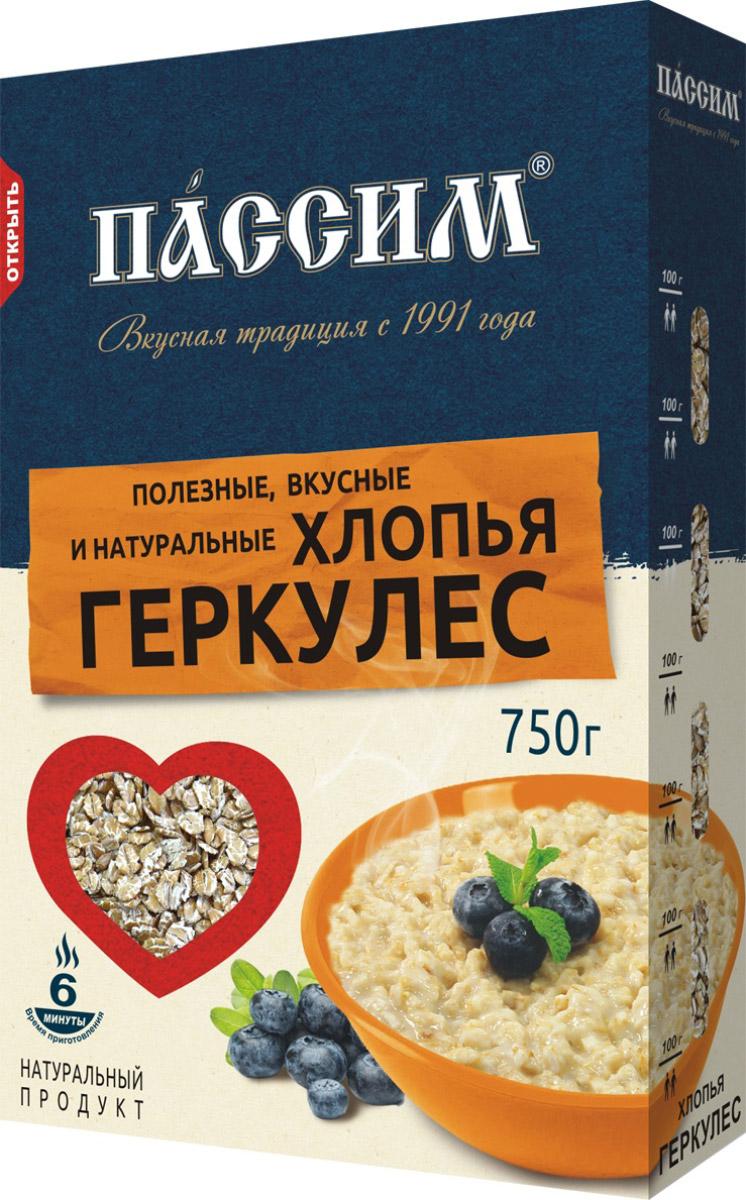 Пассим геркулес 12 месяцев, 750 г русский завтрак хлопья геркулес 400 г