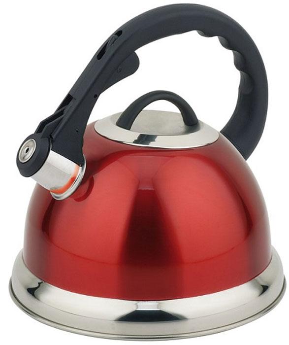 Чайник Teco, со свистком, цвет: серый, красный, 3 л. TC-115-RTC-115-RЧайник Teco выполнен из высококачественной нержавеющей стали, что делает его весьма гигиеничным и устойчивым к износу при длительном использовании. Носик чайника оснащен насадкой-свистком, что позволит вам контролировать процесс подогрева или кипячения воды. Фиксированная ручка, изготовленная из пластика, делает использование чайника очень удобным и безопасным. Поверхность чайника гладкая, что облегчает уход за ним. Эстетичный и функциональный чайник будет оригинально смотреться в любом интерьере.Подходит для всех типов плит, включая индукционные. Можно мыть в посудомоечной машине.