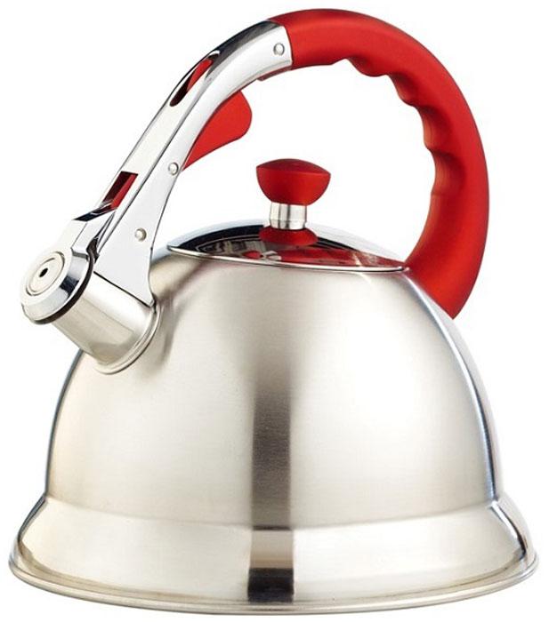 Чайник  Teco , со свистком, цвет: серый, красный, 3 л. TC-106-R - Посуда для приготовления