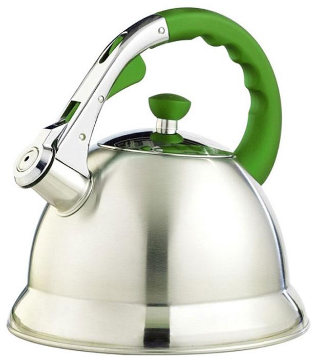 Чайник  Teco , со свистком, цвет: серый, зеленый, 3 л. TC-106-G - Посуда для приготовления
