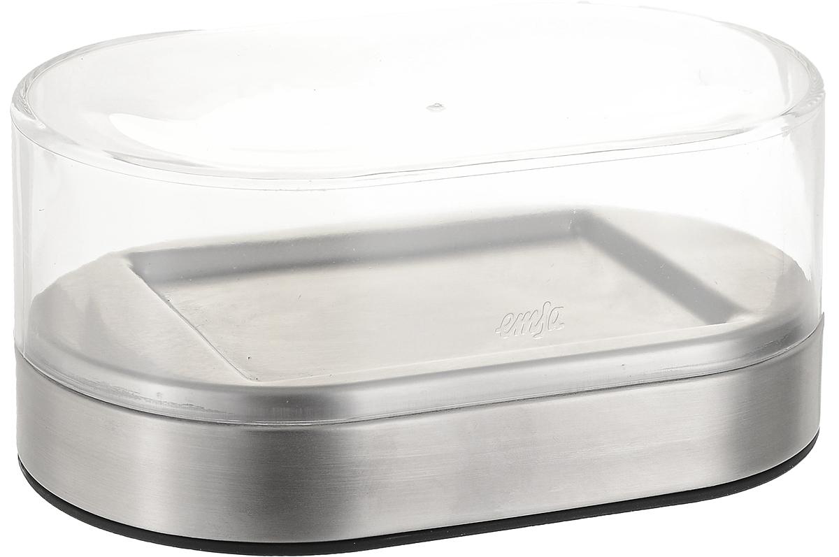 Масленка Emsa Accenta508528Масленка Emsa Accenta надолго сохранит масло свежим. Изделие состоит из подноса, выполненного из нержавеющей стали, и прозрачной пластиковой крышки. Благодаря специальным выемкам крышка плотно устанавливается на поднос. Для масла предусмотрены специальные углубления. Дно изделия пластиковое, резиновые ножки предотвращают скольжение по столу.