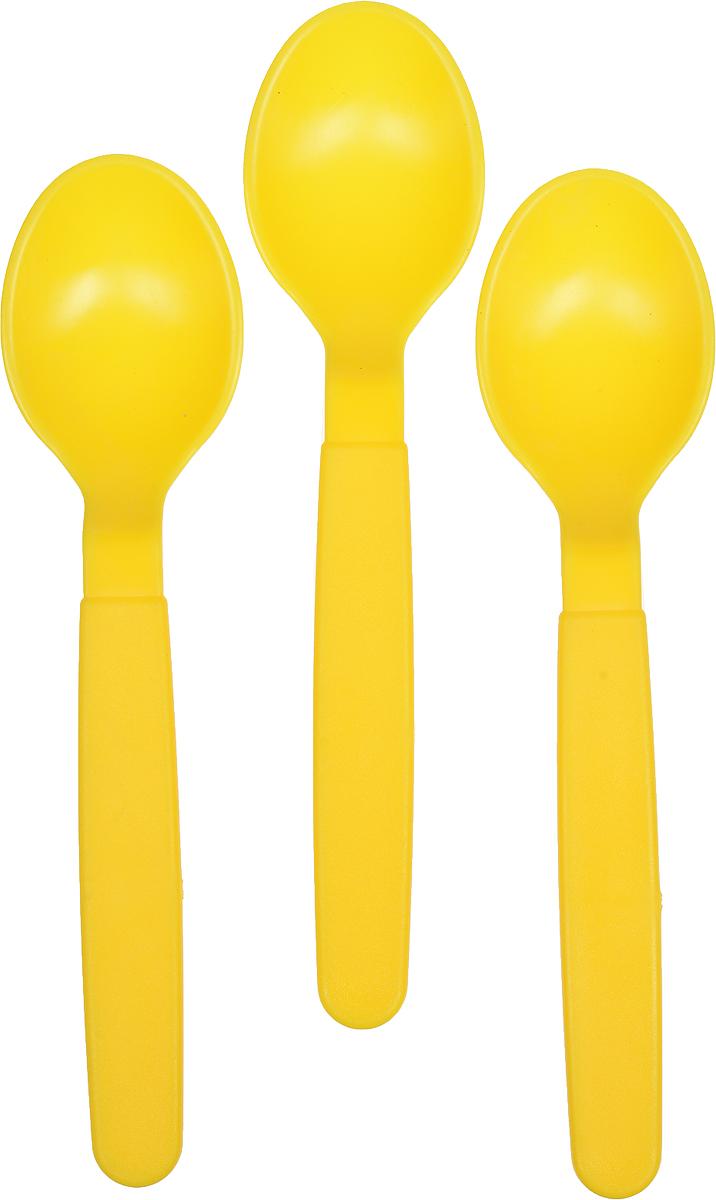 Ложка столовая Gotoff, цвет: желтый, 3 штWTC-806_желтыйСтоловые ложки Gotoff выполнены из прочного пищевого полипропилена. Отлично подойдут как для холодных, так и для горячих блюд. Ложки компактные, легкие и не занимают много места. Их удобно использовать на даче, брать с собой на пикники, в походы и поездки. Пластиковые столовые приборы легко моются, гигиеничны, не накапливают запахов.Длина ложек: 18,5 см.