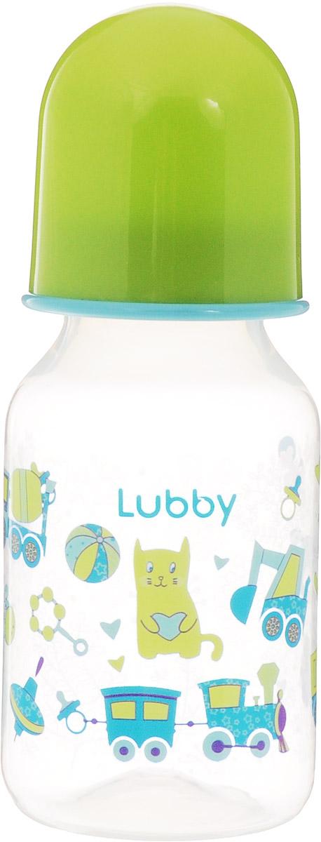 Lubby Бутылочка для кормления Малыши и Малышки от 0 месяцев цвет салатовый 125 мл