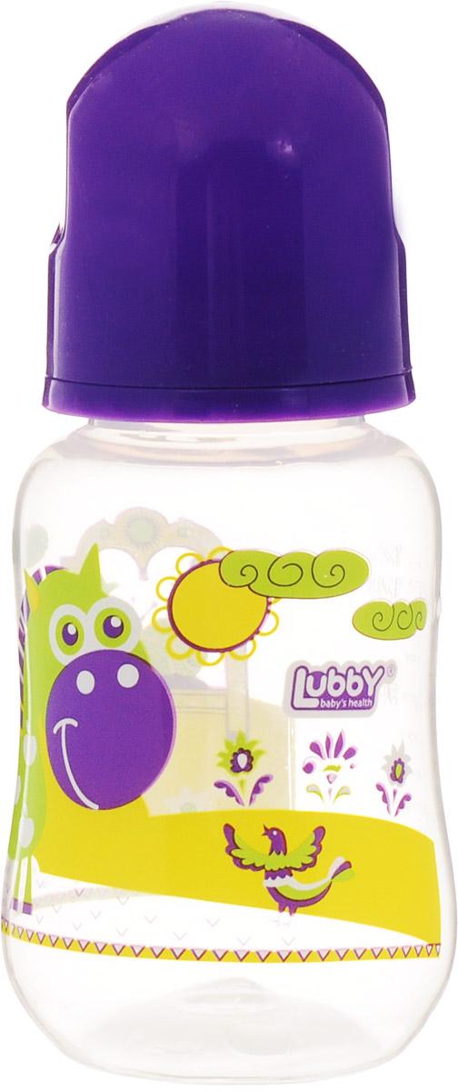 Lubby Бутылочка для кормления Русские мотивы от 0 месяцев цвет фиолетовый 125 мл