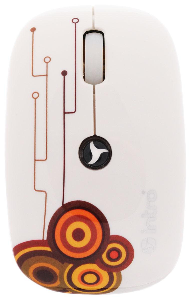 Intro MW205, White мышь беспроводнаяMW205 whiteУдобная беспроводная мышь Intro MW205 со стильным дизайном. Устройство может работать практически на любой поверхности. Оптический сенсор со сменным разрешением 800/1600 dpi обеспечивает максимально точное позиционирование курсора. Благодаря симметричной форме эта мышка подходит как правшам, так и левшам. Не требует установки драйверов, просто подключите и начинайте работу.