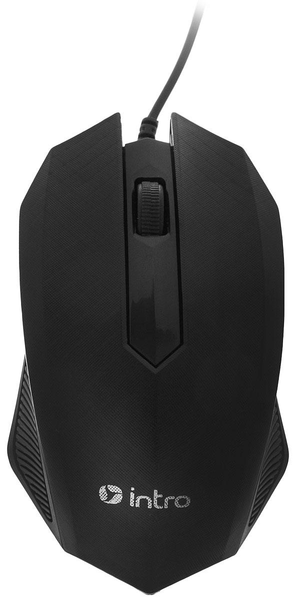 Intro MU130, Black мышь мышь проводная intro mu104 gray