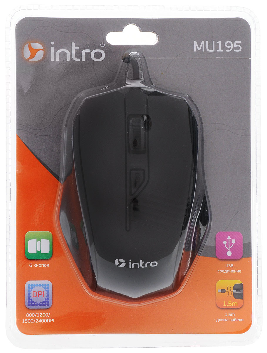 Intro MU150, Black мышь клавиатуры intro клавиатуры компьютерные 25 напр km490 black intro black usb