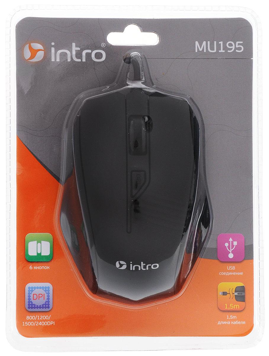 Intro MU150, Black мышьMU150Классическая проводная мышь Intro MU150. Устройство может работать практически на любой поверхности. Оптический сенсор обеспечивает максимально точное позиционирование курсора. Благодаря симметричной форме эта мышка подходит как правшам, так и левшам. Не требует установки драйверов, просто подключите и начинайте работу.