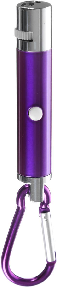 Игрушка для кошек V.I.Pet Лазерная указка, с фонариком, цвет: фиолетовый01014_фиолетовыйИгрушка V.I.Pet Лазерная указка с карабином, изготовленная из высокопрочного металла и пластика, предназначена для игры с вашей любимой кошкой. Игрушка оснащена 5 фигурными лучами и фонариком.Игрушка работает от 3 батареек типа LR44, которые входят в комплект. Длина: 8 см. Диаметр: 1,5 см.