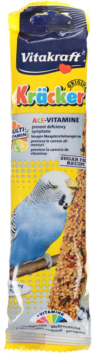 Крекеры для волнистых попугаев Vitakraft Kracker, обогащенные витаминами, 2 шт vitakraft корм для волнистых попугаев vitakraft menu vital 500 г