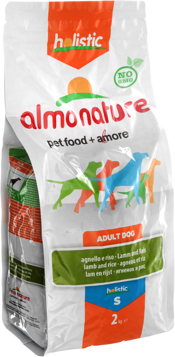 Корм сухой Almo Nature Holistic для взрослых собак малых пород, с ягненком, 2 кг10145Полнорационный корм Almo Nature Holistic рекомендован для взрослых собак малых пород. Корм содержит большой процент свежего мяса, что обеспечивает необходимым количеством питательных веществ и оптимальным содержанием протеина. Прекрасный вкус обеспечивается за счет свежих натуральных ингредиентов. Не содержит искусственных добавок, красителей, ароматизаторов, консервантов. Состав: мясо ягненка - 53% (из которых 26% свежего филе ягненка, 27% дегидрированного мяса), злаки, экстракт растительного белка, овощи, масла и жиры, дрожжи, минеральные вещества, аннанолигосахариды (MOS) и фруктоолигосахариды (ФОС), витамин А - 26760 МЕ/кг, витамин D3 - 1800 МЕ/кг, витамин Е - 200 мг/кг.Пищевые добавки: витамин A 22000 IU/кг, витамин D3 1400 IU/кг, витамин E 300 мг/кг, витамин B1 12 мг/кг, витамин B2 14 мг/кг, кальций D-пантотенат 20 мг/кг, витамин B6 12 мг/кг, витамин B12 0,15 мг/кг, биотин 0,50 мг/кг, ниацин 25 мг/кг, фолиевая кислота 1 мг/кг, L-карнитин 100 мг/кг, сульфат пентагидрат меди 32 мг/кг, хелат меди аминокислоты гидрат 33 мг/кг, 3b203 1,64 мг/кг, моногидрат сульфата цинка 222 мг/кг, хелат цинка аминокислоты гидрат 267 мг/кг, моногидрат сульфата марганца 20 мг/кг, органический селен 80 мг/кг. Пищевая ценность: белки - 24%, клетчатка - 4%, жиры - 14%, зола - 9%, влажность - 9%.Калорийность: 3465 ккал/кг.Товар сертифицирован.