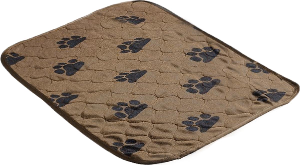 Пеленка впитывающая для животных  V.I.Pet , многоразовая, цвет: коричневый, 60 х 40 см - Средства для ухода и гигиены