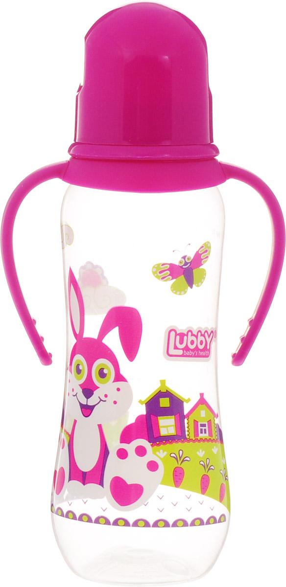 Lubby Бутылочка для кормления Русские мотивы от 0 месяцев цвет розовый 240 мл