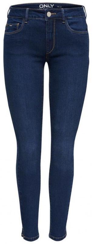 Джинсы женские Only, цвет: темно-синий. 15138621_Dark Blue Denim. Размер 25-32 (40/42-32)15138621_Dark Blue DenimСтильные джинсы Only выполнены из хлопка и полиэстера с добавлением вискозы и эластана. Модель силуэта скинни и со стандартной посадкой имеет классический пятикарманный крой: два втачных и один небольшой накладной кармашек спереди, два накладных кармана сзади. Пояс дополнен шлевками. Модель застегивается на гульфик с молнией и пуговицу.