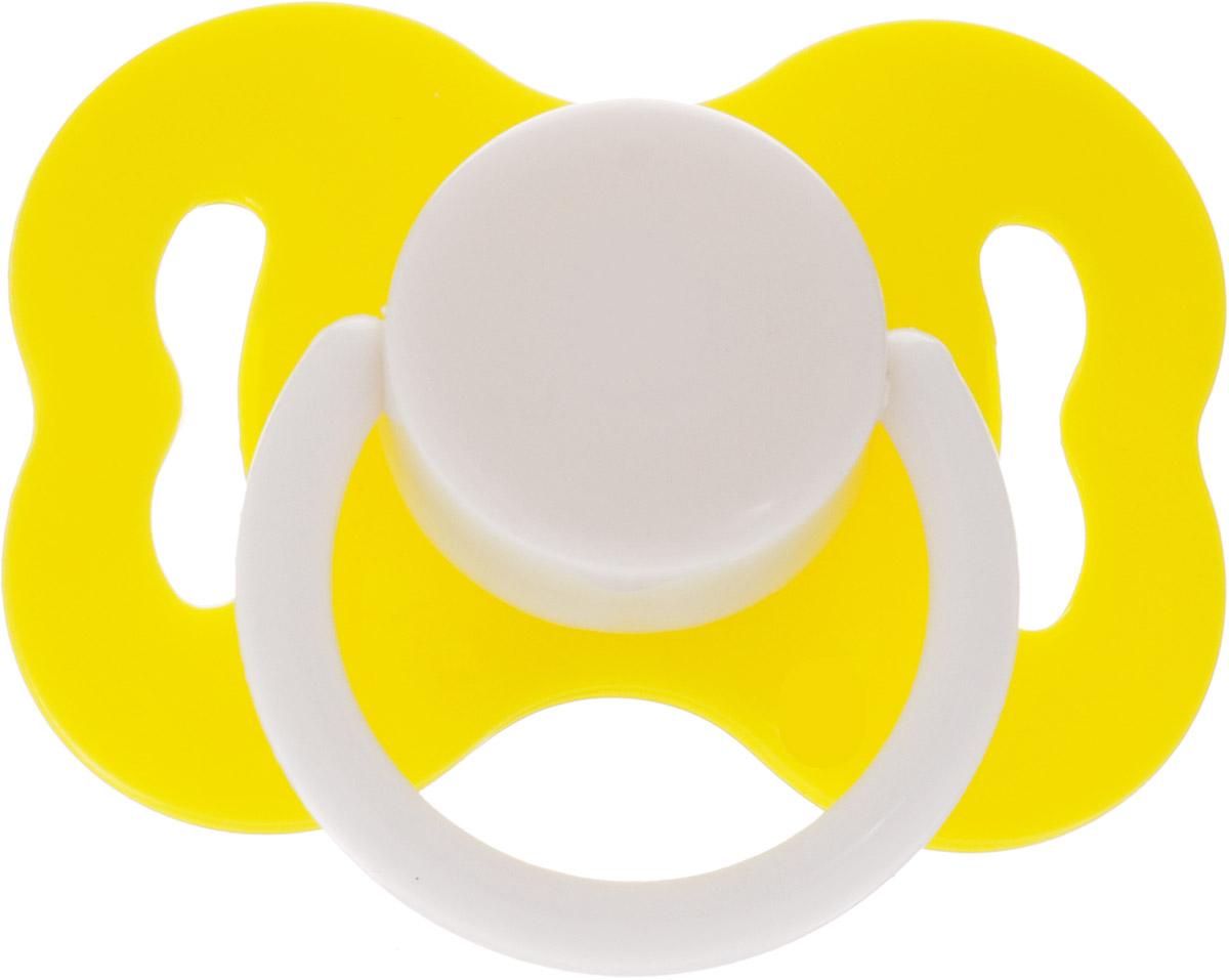 Lubby Соска-пустышка латексная Ретро от 3 месяцев цвет желтый elodie details пустышка marble grey от 3 месяцев
