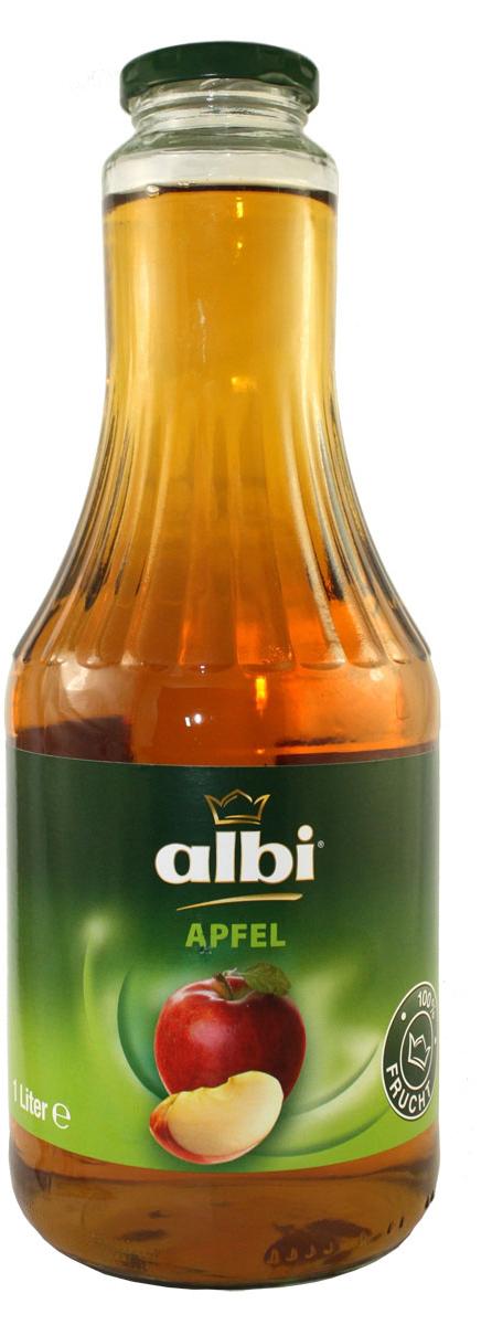 ALBI сок яблочный 100% 1,0 л4003240302008Компания Albi — известный производитель соков из Германии, крупнейшая семейная фирма, на родине входящая в тройку лидеров продаж. Основой успеха фирмы Albi стали высокое качество сырья и технология изготовления со сбережением полезных свойств плодов.Изготавливается продукция Albi из местного сырья нового урожая. Благодаря усовершенствованной системе контроля, отбираются только спелые и здоровые фрукты и овощи. Плоды поступают на переработку напрямую из сада, поэтому продукция Albi сохраняет все витамины и минералы отборных плодов.Благодаря использованию современной технологии продукция Albi не содержит сахара, консервантов и красителей, что подтвердит любое лабораторное независимое исследование. Оригинальные и классические фруктовые, овощные соки, нектары и фруктовые напитки представляют широкий ассортимент продукции Albi.
