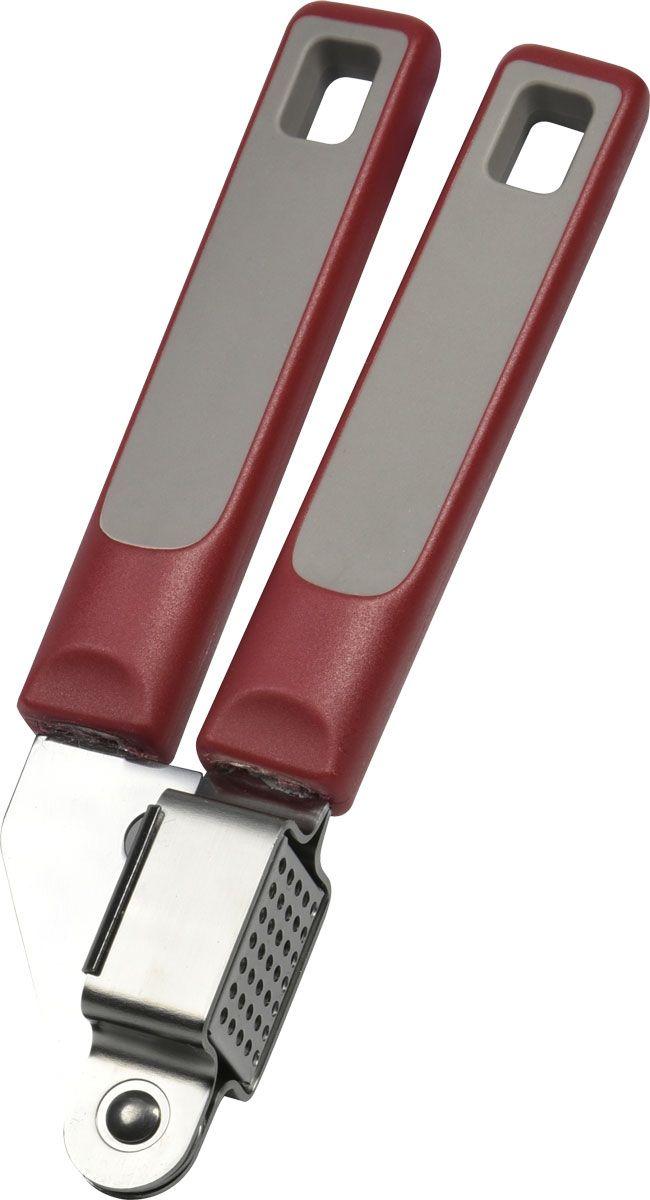 Пресс для чеснока Vitesse. VS-2403VS-2403Пресс для чеснока Vitesse выполнен из высококачественной нержавеющей стали и пластика. Пресс мгновенно измельчает чеснок. Удобные ручки не позволят выскользнуть изделию из вашей руки. Ручки имеют петли, с помощью которых пресс можно подвесить в удобном для вас месте.Пресс для чеснока  Vitesse  станет достойным дополнением к кухонному инвентарю.