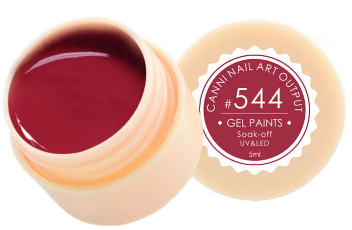 Canni Гель-краска для ногтей Gel Paints, тон № 544, 5 мл11575Гель-лак Canni – это покрытие для ногтей нового поколения, которое поставит крест на всех известных Вам ранее проблемах и трудностях использования Гель-лаков. Это самые качественные и самые доступные шеллаки на сегодняшний день. Canni Гель-лак может легко сравниться по качеству с продукцией CND, а в цене и вовсе выигрывает у американского бренда. Предельно простое нанесение, способность к самовыравниванию, отличная пигментация, безопасное снятие, безвредность для здоровья ногтей и огромная палитра оттенков – это далеко не все достоинства Гель-лаков Канни. Каждая женщина найдет для себя в них что-то свое, отчего уже никогда не сможет отказаться.