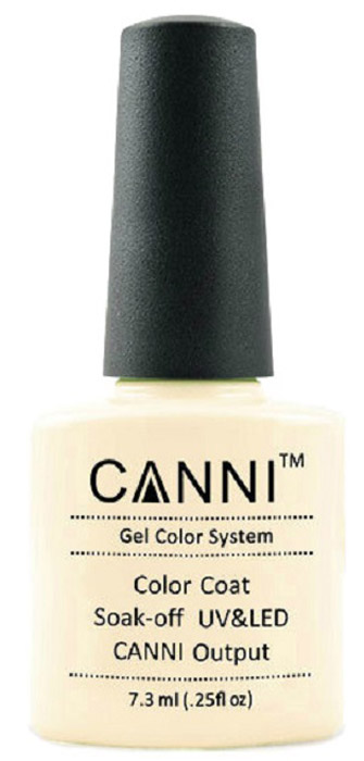 Canni Гель-лак для ногтей Colors, тон №83, 7,3 мл9777Гель-лак Canni – это покрытие для ногтей нового поколения, которое поставит крест на всех известных Вам ранее проблемах и трудностях использования Гель-лаков. Это самые качественные и самые доступные шеллаки на сегодняшний день. Canni Гель-лак может легко сравниться по качеству с продукцией CND, а в цене и вовсе выигрывает у американского бренда. Предельно простое нанесение, способность к самовыравниванию, отличная пигментация, безопасное снятие, безвредность для здоровья ногтей и огромная палитра оттенков – это далеко не все достоинства Гель-лаков Канни. Каждая женщина найдет для себя в них что-то свое, отчего уже никогда не сможет отказаться.
