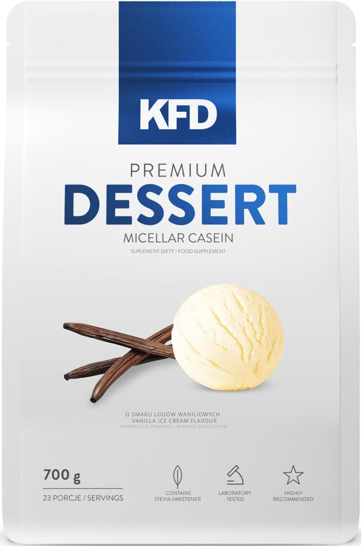 Казеин KFD  Dessert , ванильное мороженное, 700 г - Протеины